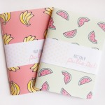 banane et pastèque carnet banana watermelon notebook