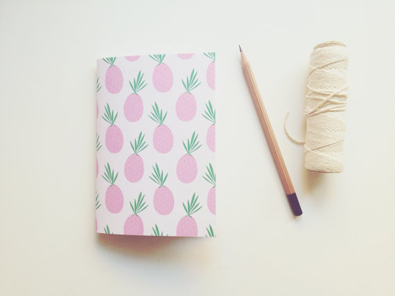 carnet ananas rose