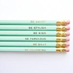 crayons à message mint