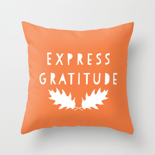 express gratitude cushion