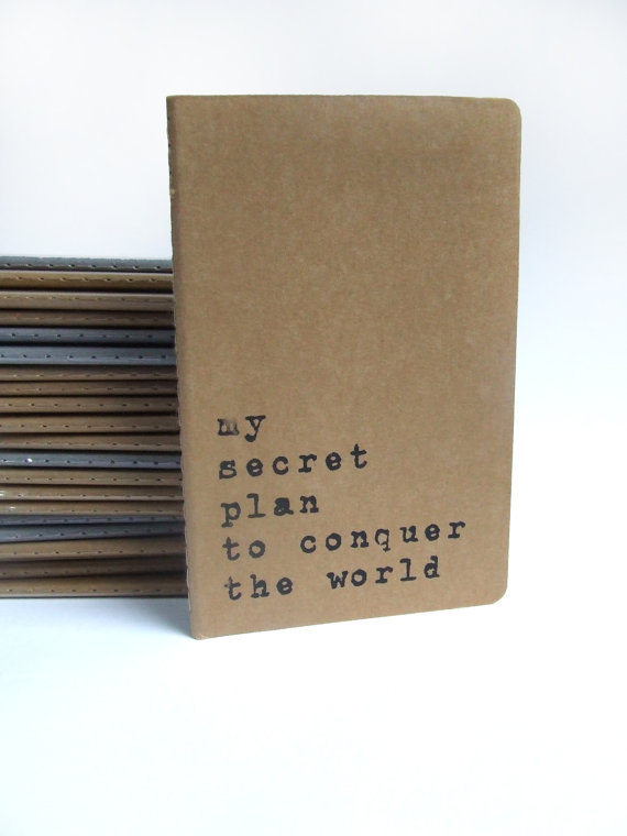my secret plan to conquer the world notebook