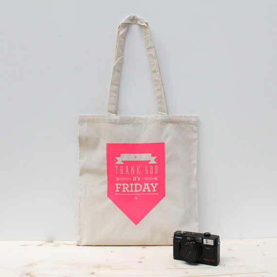 thank god it's friday totebag