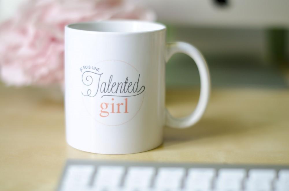 boutique je suis une talented girl talented girls mug totebag personnalisés