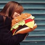 Talented Girls cadeaux de noel coussin burger