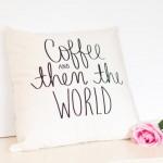 cadeaux noel talented girls coussin café