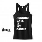 cadeaux noel talented girls t shirt running late is my cardio